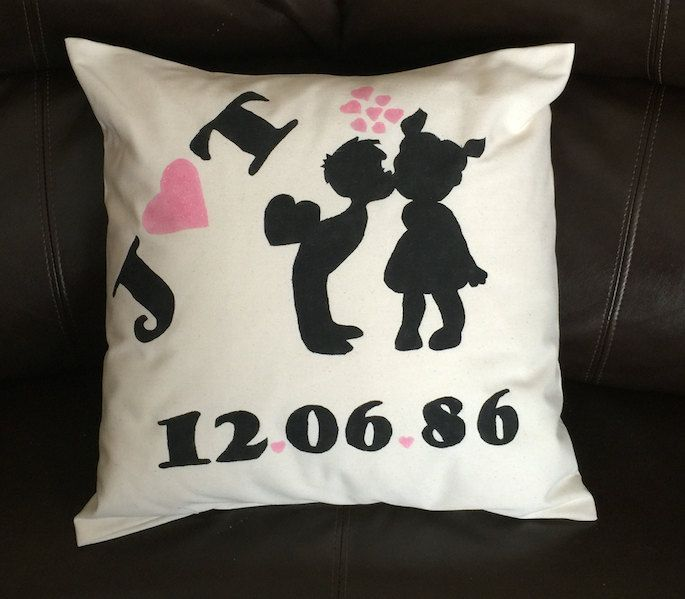 Anniversary Pillow Gift For Boyfriend Anniversary Gift Girlfriend Gift 1 Boyfriend Anniversary Gifts Girlfriend Anniversary Gifts 1 Year Anniversary Gifts