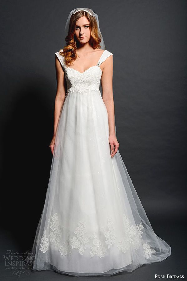 eden bridals wedding dresses 2013 silver label sl039 a line gown straps