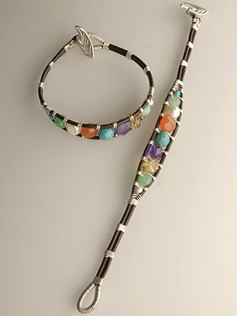 Cool take on the wrap bracelet using wire.: