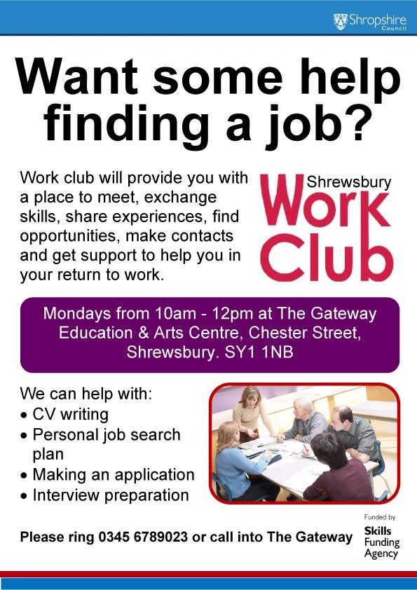 Work Club in Shrewsbury Flyer