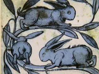 Tile from the bathroom at the Victoria and Albert Museum Love this!  Have a thing for the handsome hare.