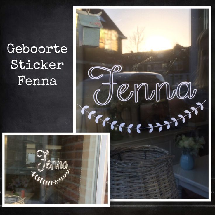Geboorte sticker Fenna. www.littlesissy.nl of info@littlesissy.nl