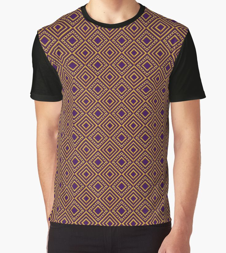 Diamonds and Dots in Gold on Purple by TC-TWS