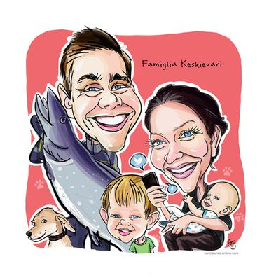 Order your caricatures online NOW! - Ana's Caricatures and Cartoons