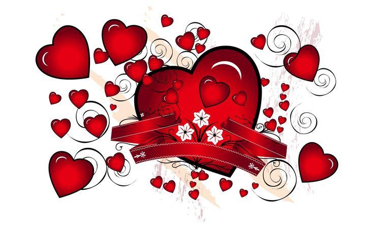 Walentynki, Serca, Wstążki