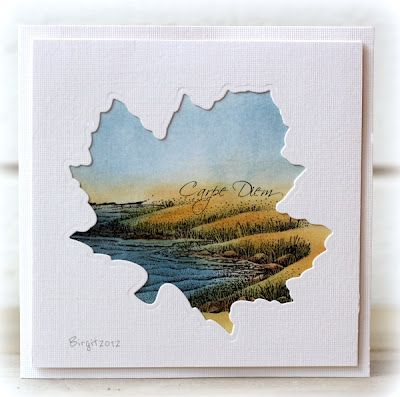 luv the seascape painted beneath the maple leaf negative die cut...