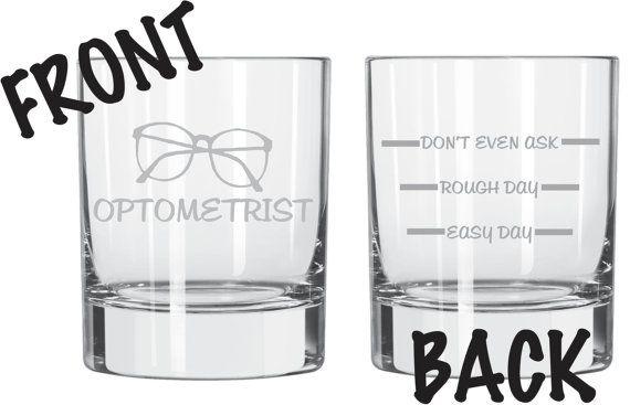 Optometrist Glass Set of 2 Eye Doctor FUNNY by WulfCreekDesigns