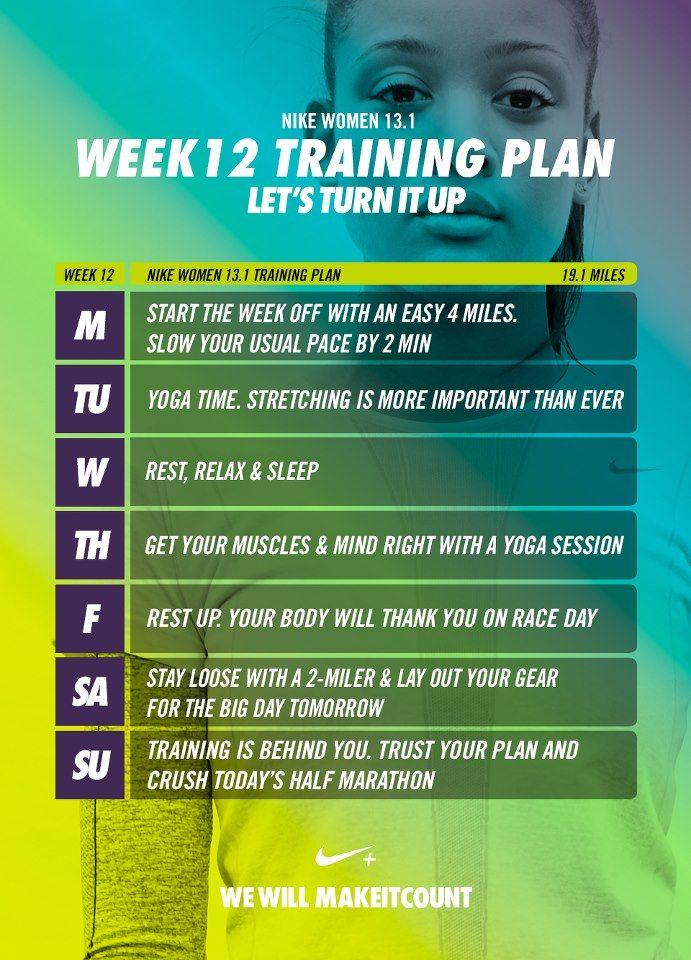 12 Week Half Marathon Training Plan Half marathon