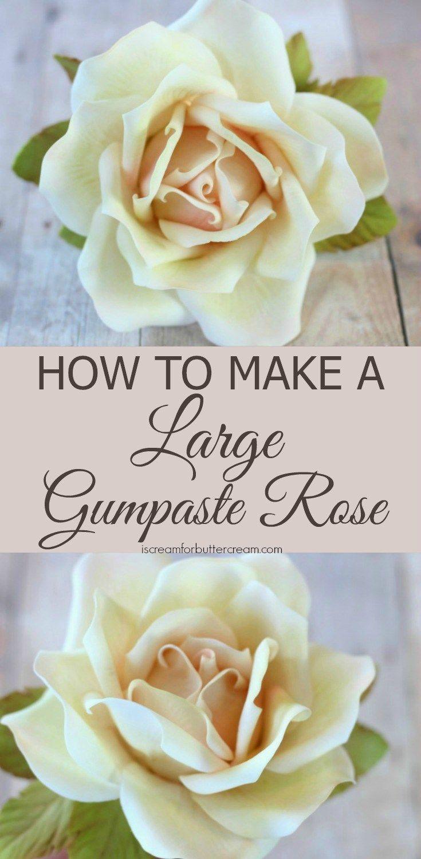 100 best gum paste flowers images on pinterest fondant flowers how to make a large gumpaste rose izmirmasajfo