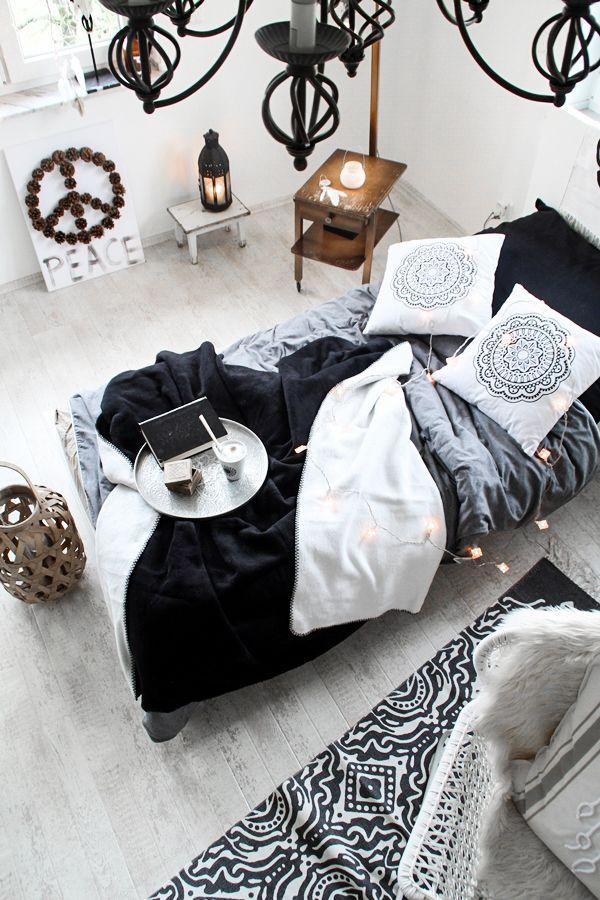 310 best New Boho Ethno images on Pinterest Interiors, Ethnic - schlafzimmer schwarz weiß