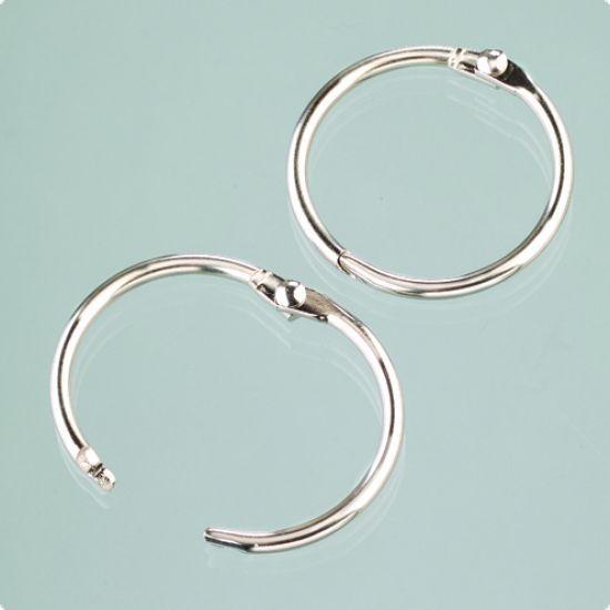 Set 10 inele metalice cu balama 2,4 cm - Papetarie-legatorie | Casa Retro - magazin on-line jucarii educative-bricolaj-jocuri logice