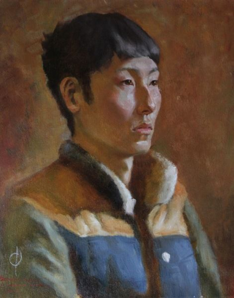 Oil on canvas portraiture painting by Jonathan Schlegel