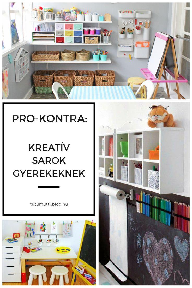 Tutumutti - Gyerekkel kreatívan blog / www.tutumutti.blog.hu / Pro-kontra: Kreatív sarok gyerekeknek / Art station for kids / DIY and Crafts
