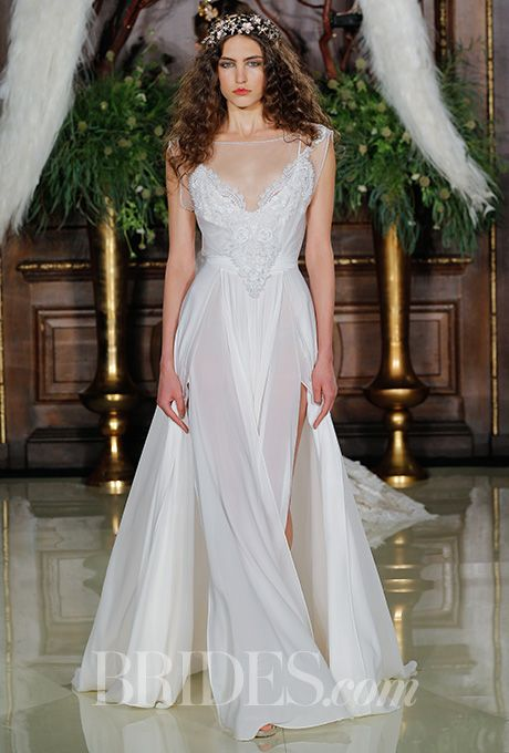 An ethereal wedding dress by @galialahav | Brides.com