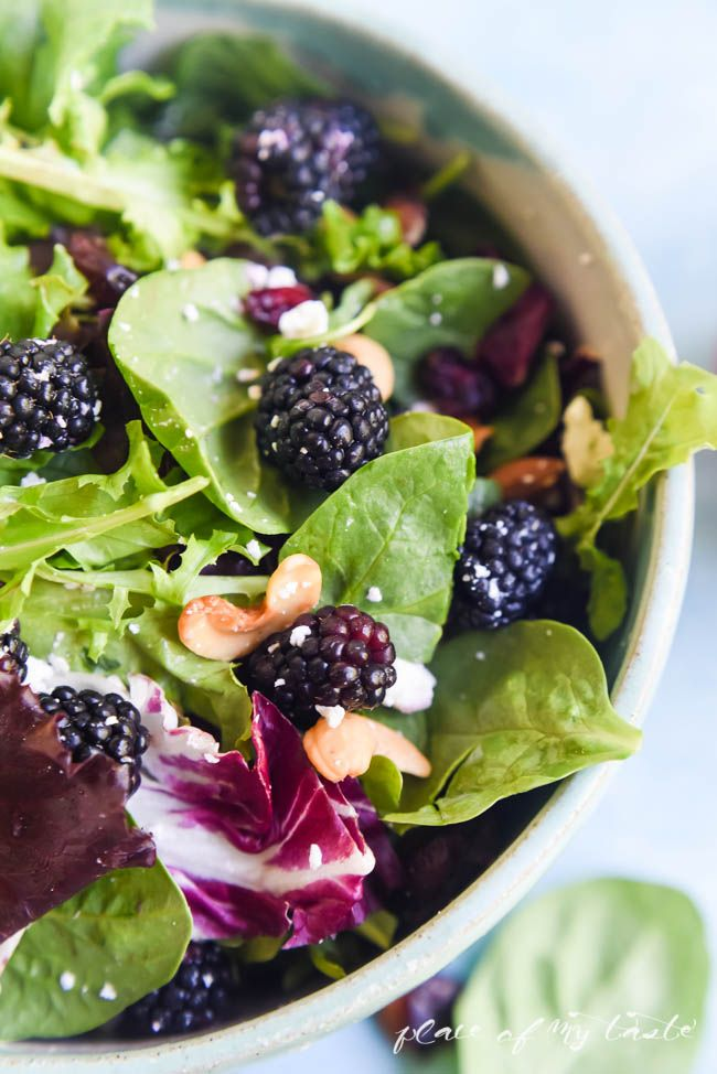 Blackberries and greens salad | Recipe | Blackberry ...