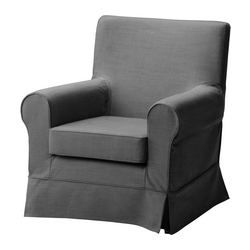 "$249 EKTORP JENNYLUND chair, Svanby gray Width: 30 3/4 "" Depth: 33 1/2 "" Height: 33 1/8 "" Width: 78 cm Depth: 85 cm Height: 84 cm"