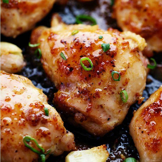 Honey Dijon Garlic Chicken