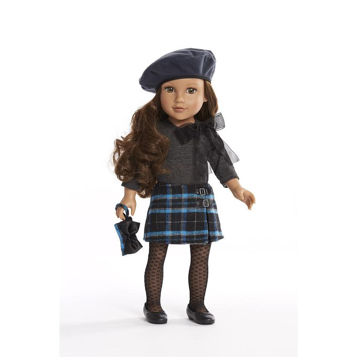 "Journey Girls 18 inch Doll Outfit - Grey Shirt with Blue Plaid Flannel Skirt - Toys R Us - Toys ""R"" Us"