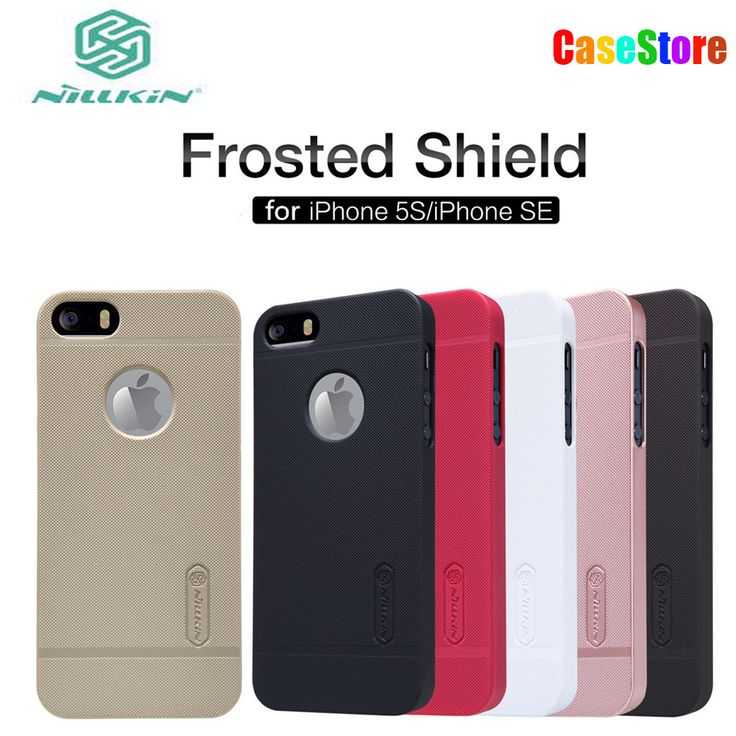 NILLKIN Case for iPhone 5s Super Frosted Shield Nilkin Cover for iPhone SE/iPhone 5e/iPhone 5c (4.0inch) with screen protector