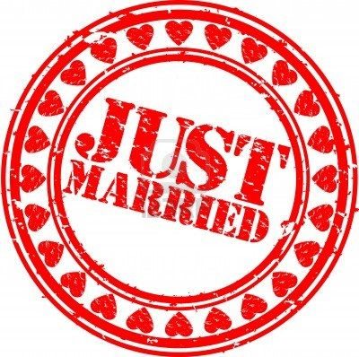 Grunge Just married rubber stamp, vector illustration Stock Photo - 12485019