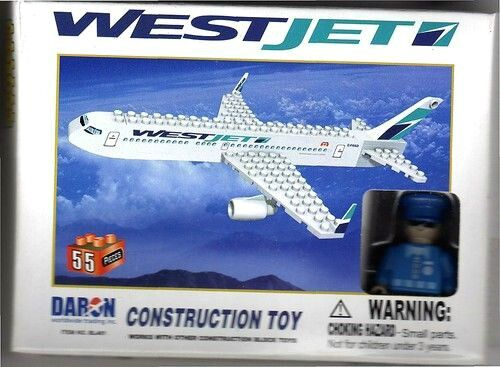Westjet Daron Aircraft Construction Toy Westjet Airlines
