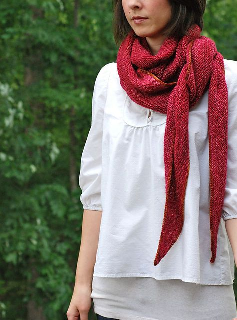 Ravelry: CatReading's Is this thing on? Inspiring ways to wear a shawl. In yummy Madelinetosh tosh merino.