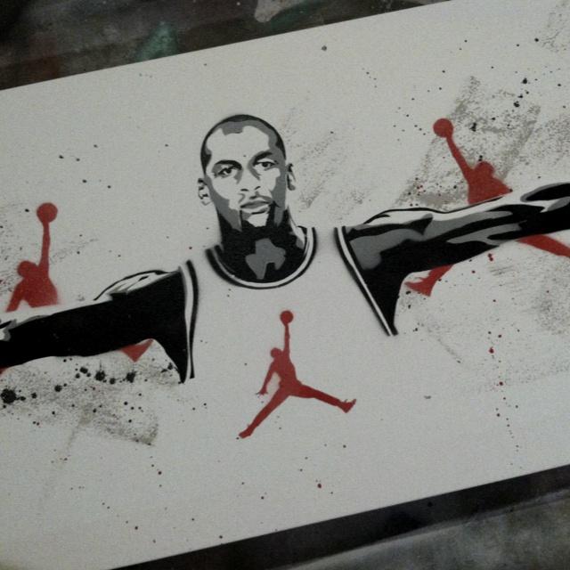 e119df4bc6fd Michael Jordan - Wings - Chicago Bulls Stencil by Ryan Fors