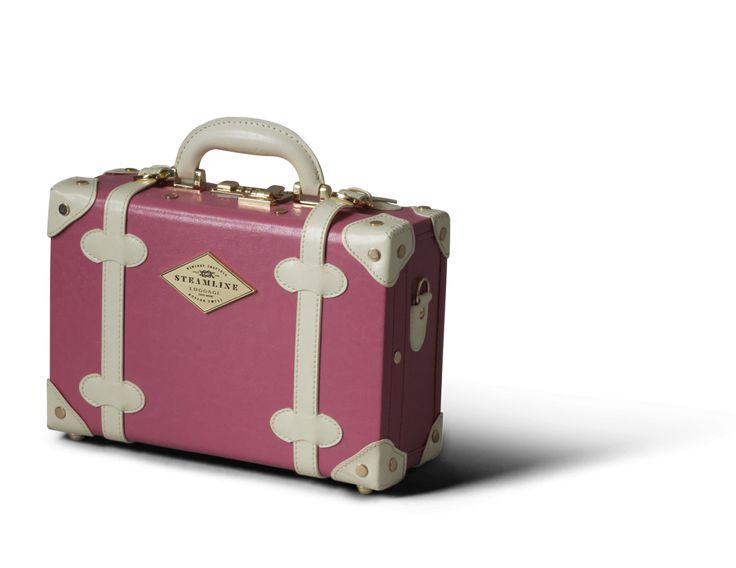 The Entrepreneur Vanity Case in Pink | Pink leather vanity case | Steamline Luggage