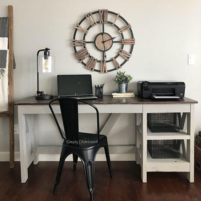 Work In Coziness 20 Farmhouse Home Office Décor Ideas: Best 25+ Farmhouse Desk Ideas On Pinterest