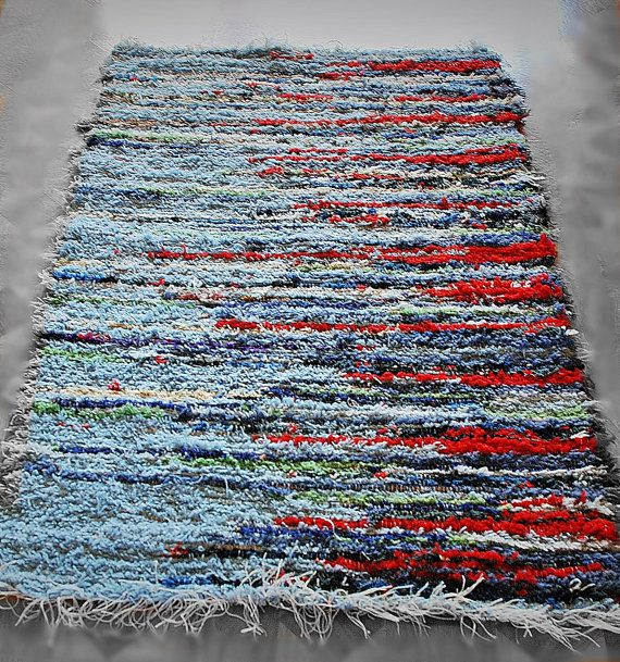Handwoven Rag Rug Woven Tapestry 130 X 80cm 51 2 By Mysunsetcolor 75 00 For The Home Pinterest Weaves And