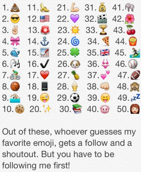 Whoever guesses my favorite emoji correct gets a shoutout and a follow!