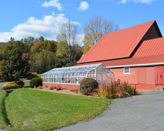Rapidan Ranch in Madison County, Virginia. Greenhouse.