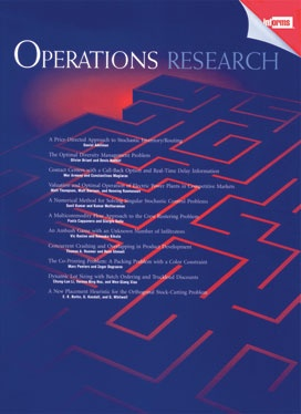 operations research journal ranking The institute for operations research and the management sciences.