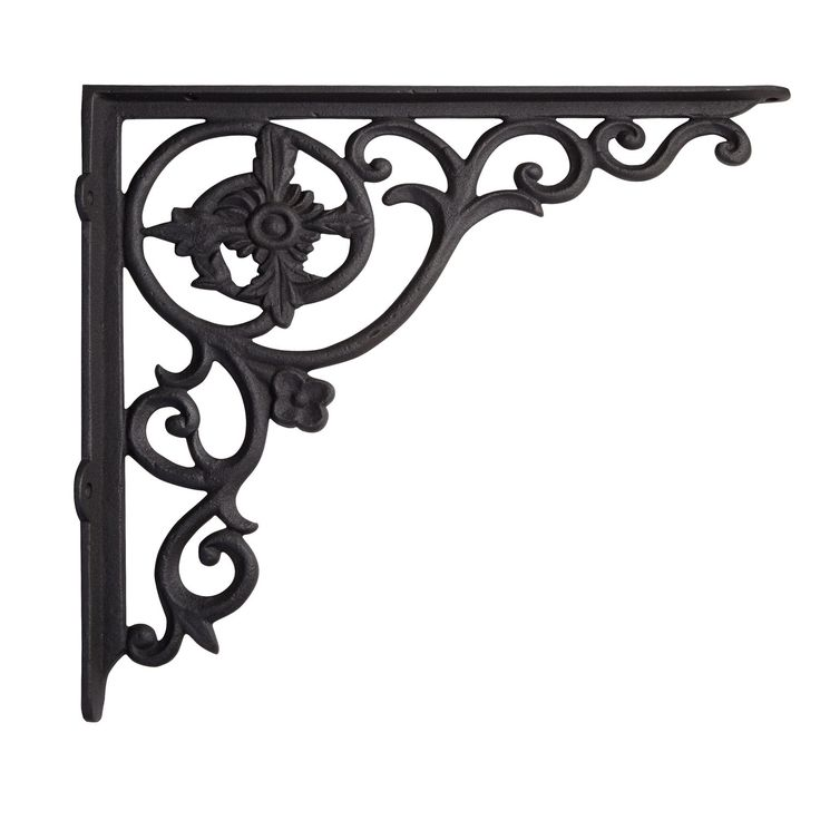 Black+Eyed+Susan+Cast+Iron+Shelf+Bracket