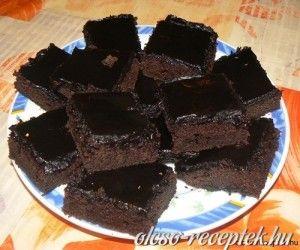 Brownie (amerikai duplán csokis kockák)  recept fotó