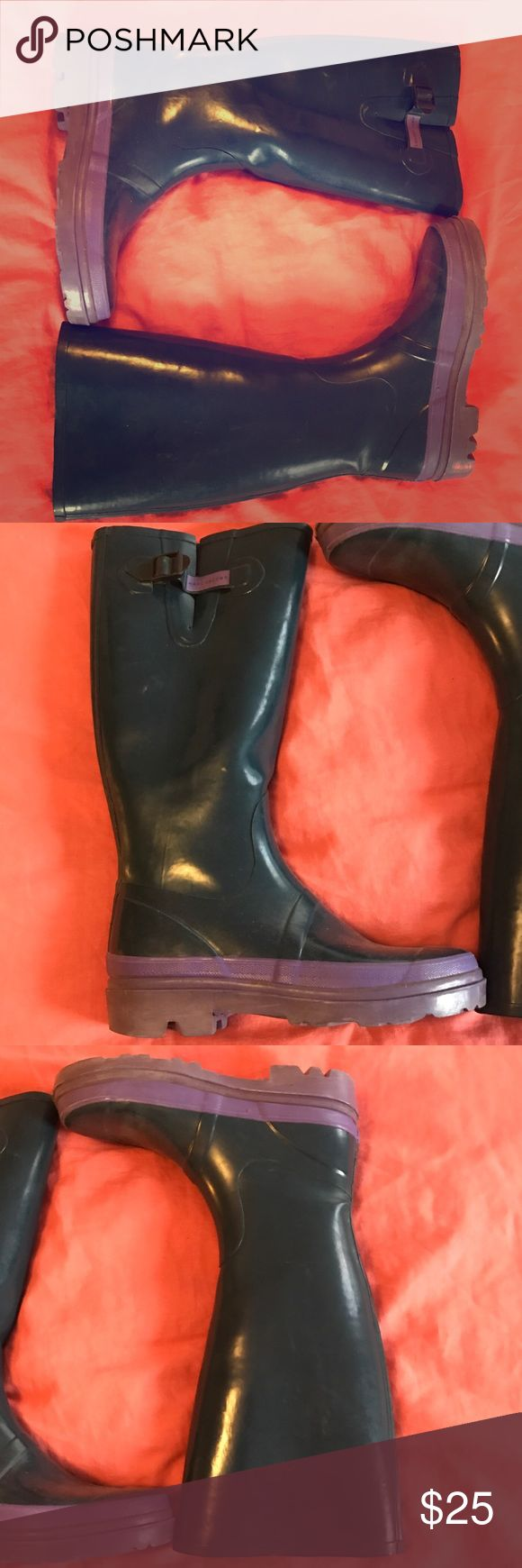 Marc Jacobs Rain Boots Marc Jacobs Rain Boots, turquoise and purple, worn but in good condition. Great quality heavy rubber Marc Jacobs Shoes Winter & Rain Boots