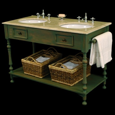 provencal style vintage bathroom vanity in antique white