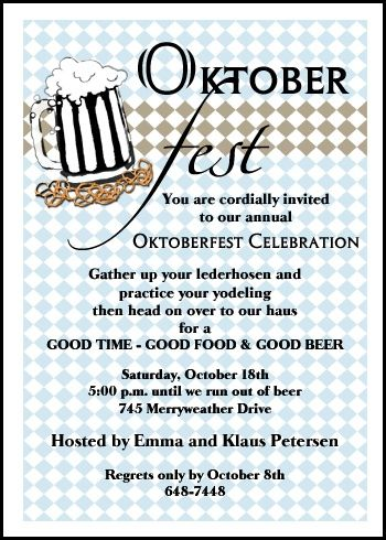 32 Best Oktoberfest Invitations Images On Pinterest Oktoberfest