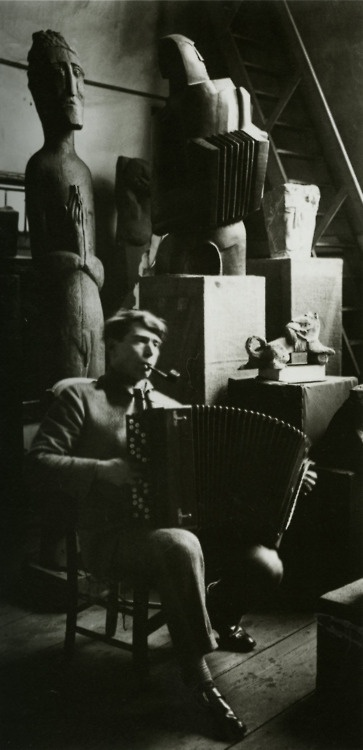 Russian Sculptor Ossip Zadkine photographed by André Kertész in 1926.