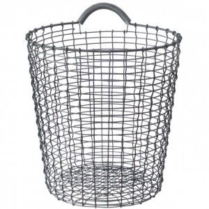 Hang on the wall for Beckett's toys    Korbo Bin 24 -Galvanized or Stainless Steel