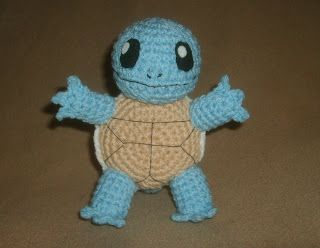 Amigurumi Squirtle (links to Charmander on right of page) ~ Free Pattern