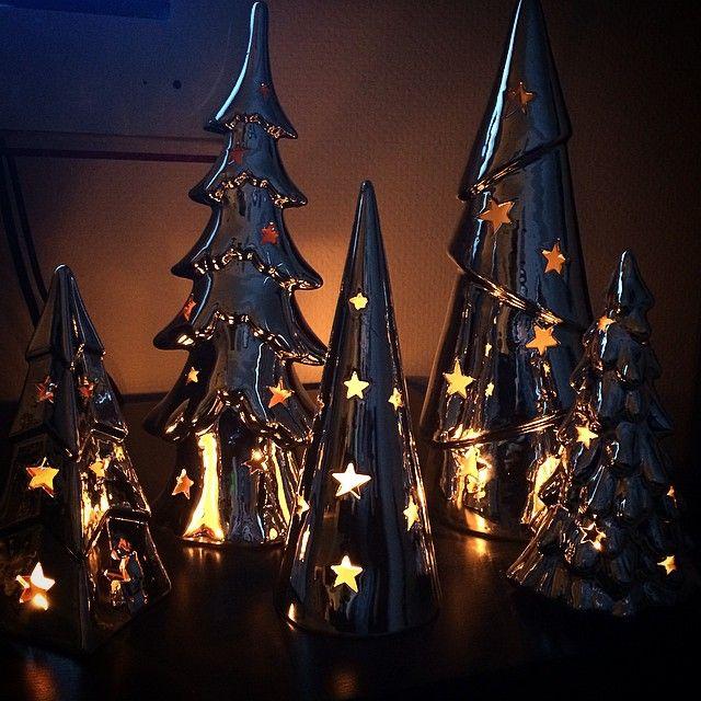 Varit på adventsmys hos min kära svägerska och nu har jag tänt min lilla skog hemma också ☺️ #julmys #förstaadvent #ÖoB