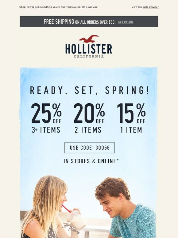 hollister 15 off email