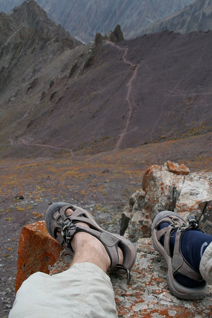 Trekking through the Himalayas in Ladakh, India with just a pair of keens. #KEENrecess #hiking