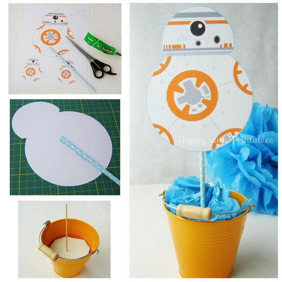 BB-8 Star Wars Centerpieces BB8 by HappywithPrintables on Etsy