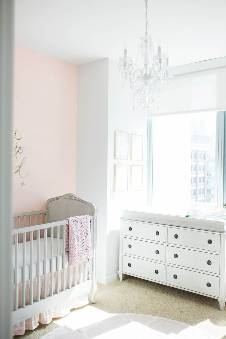 Feminine Pink and Gray Nursery