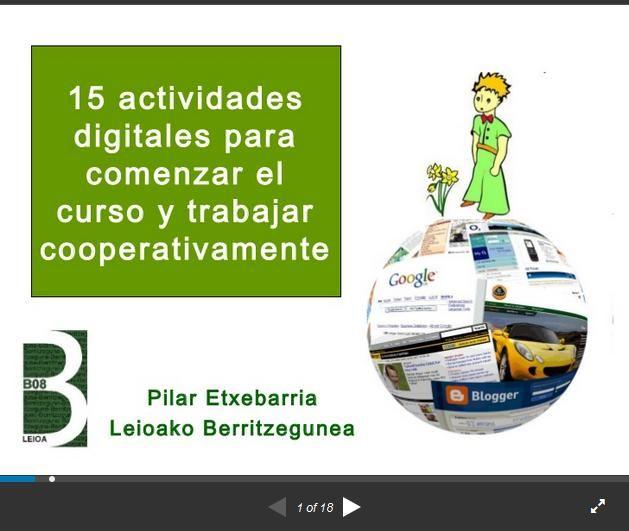 Aprendizaje Cooperativo - 15 Actividades Apoyadas por TIC | #Presentación #Educación
