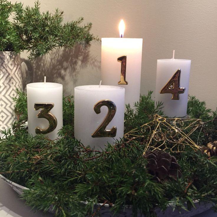 Adventslys. Christmasdecoration.