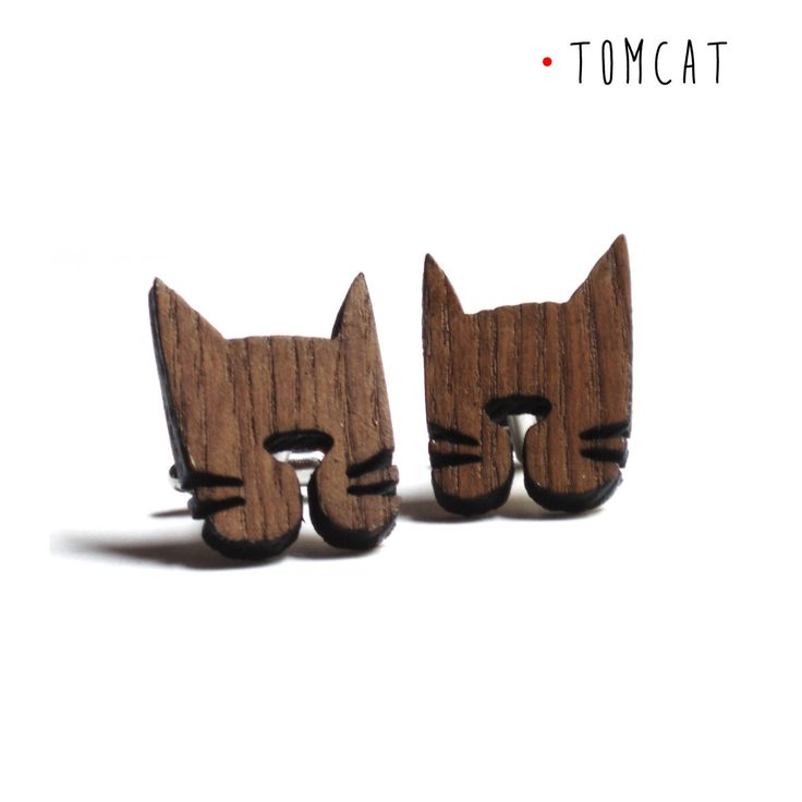 Tomcat Cufflinks for pets and cats lovers made of wood, male accessory by DARQDESIGN on Etsy https://www.etsy.com/listing/225108875/tomcat-cufflinks-for-pets-and-cats