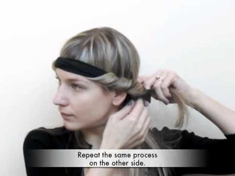 Trade Secrets - How to curl your hair by twisting it around a headband before you go to bed...looks very easy and interesting